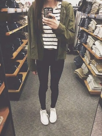 jacket shoes stripes