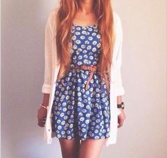 cardigan daisy dress