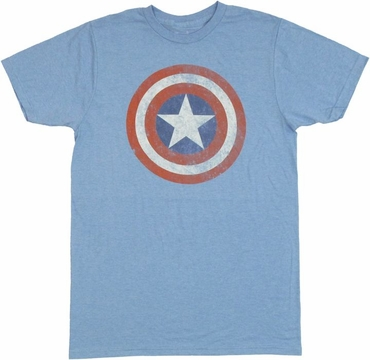 Captain America Vintage Logo T Shirt Sheer