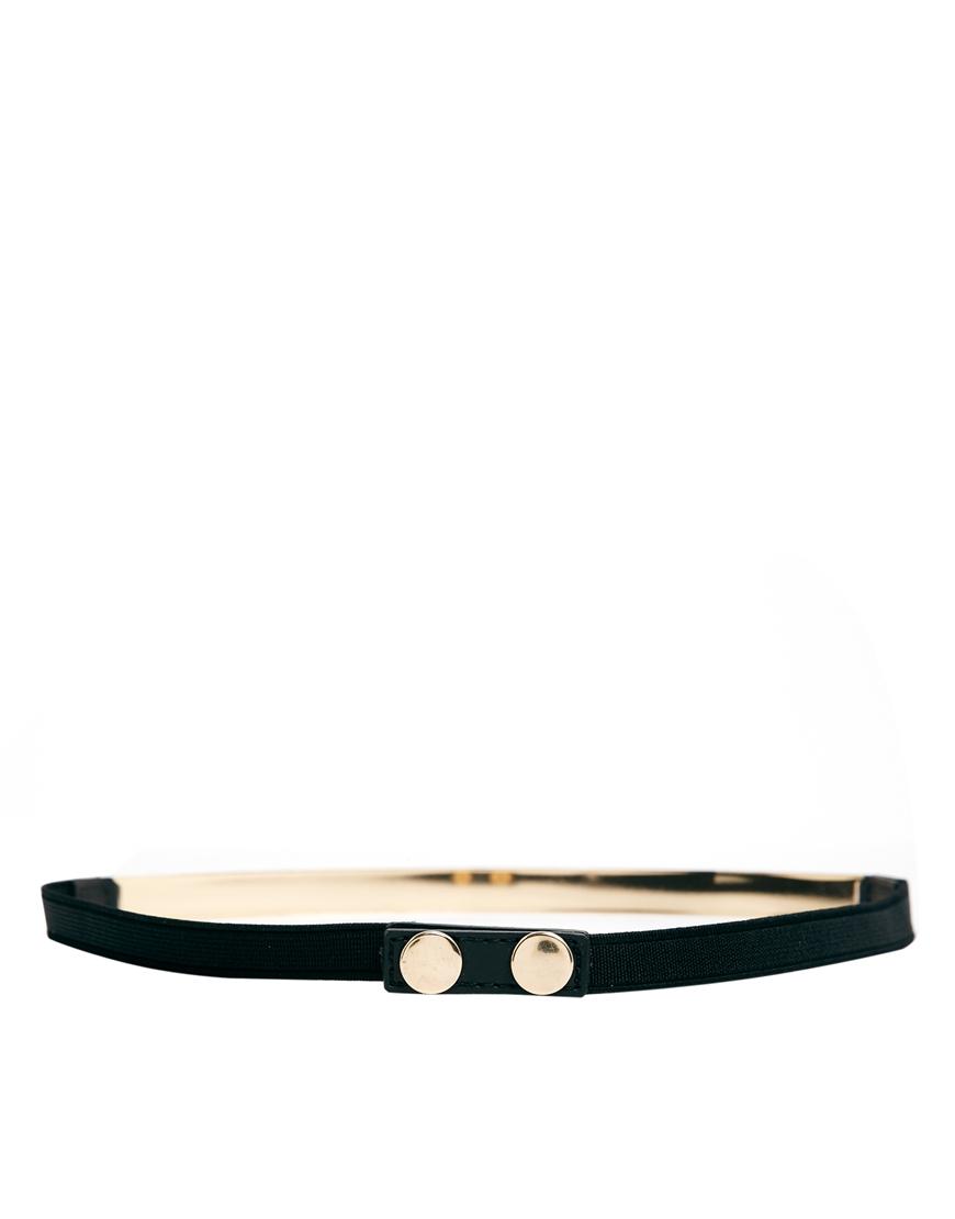 ASOS Skinny Plate Waist Belt at asos.com