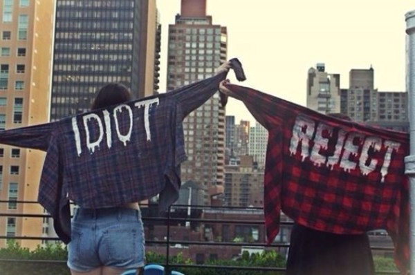 top plaid jacket 5sos merch michael clifford idiot reject flannel blouse shirt plaid plaid shirt flannel shirt chic casual grunge soft grunge burgandy shirt red shirt