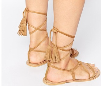 shoes girl girly girly wishlist sandals flats flat sandals lace up fringes suede