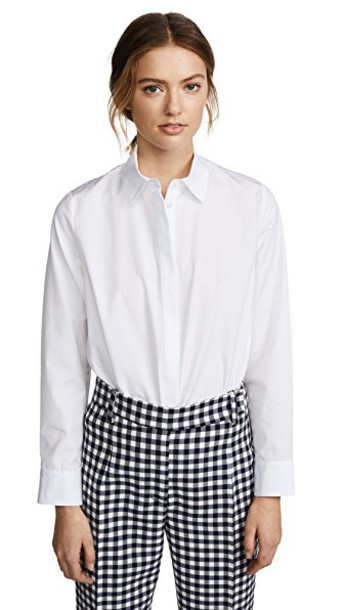 shirt button down shirt white top
