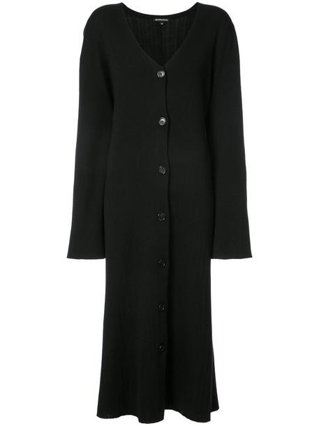 ANN DEMEULEMEESTER coat long women black wool