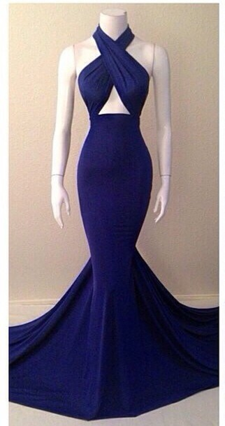 dress dar/royal blue blue dress long prom dress gown mermaid prom dress elegant dress