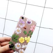 phone cover,yeah bunny,iphone,flowers,floral,transparent,dry flowers
