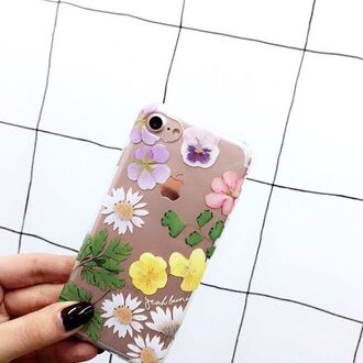 phone cover yeah bunny iphone flowers floral transparent dry flowers