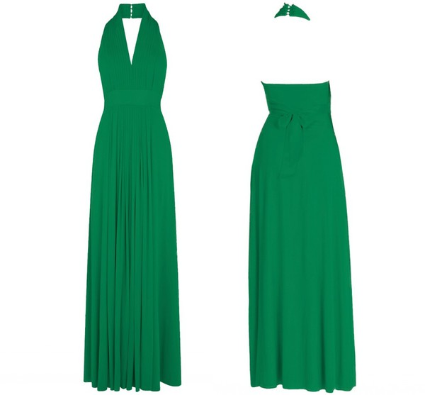 emerald dress evening dress prom dress maxi dress chiffon dress chiffon bridesmaid bridesmaid dress