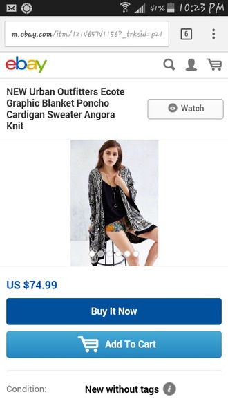 cardigan poncho urban outfitters