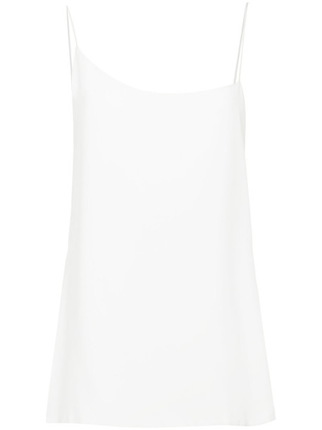Kacey Devlin top women white silk