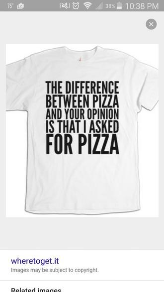 t-shirt pizza t-shirt