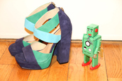 medium heels,purple shoes,blue shoes,shoes