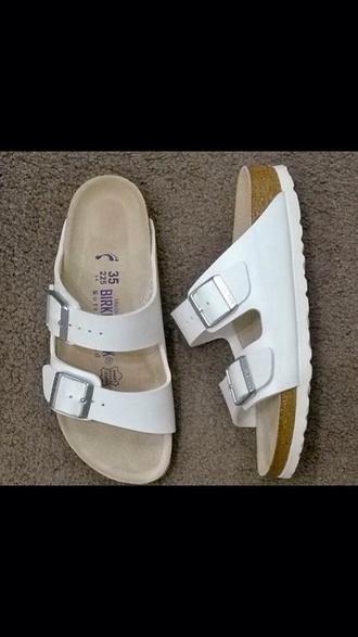 shoes white shoes birkenstocks