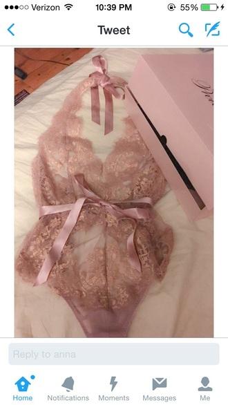 underwear pink lace lingerie