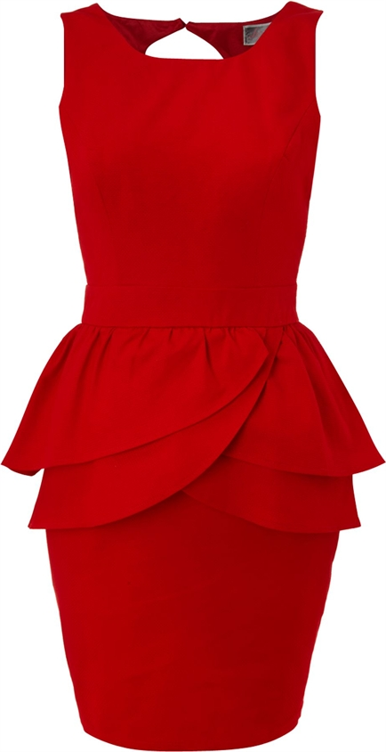 Lipsy Peplum dress, Scarlet - Lipsy - £22.75