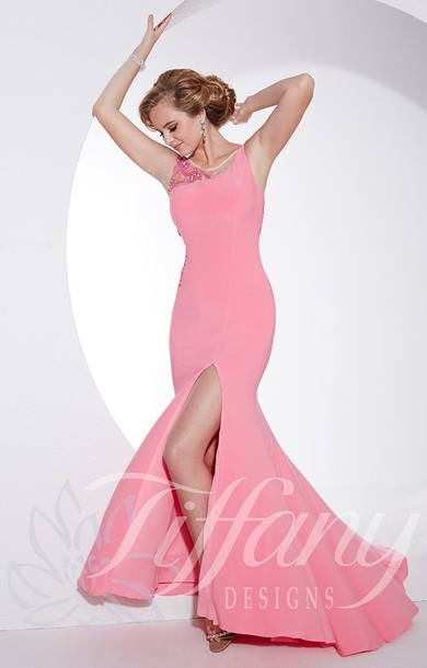 dress evening dress elegant pink dress