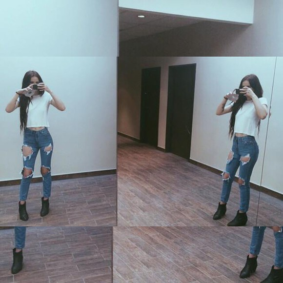 acacia brinley jeans ripped jeans pretty