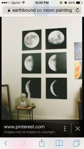 home accessory moon painting black white home decor home decor