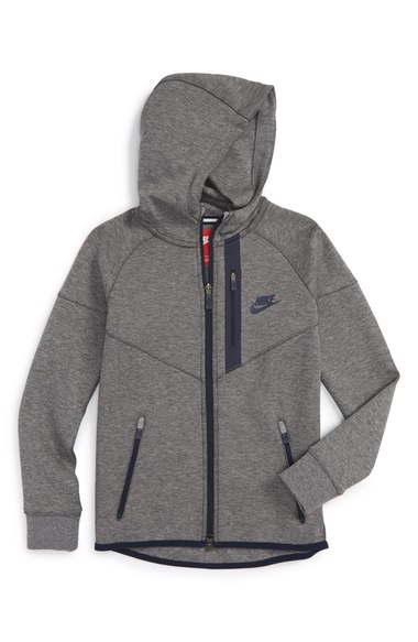 Tech Fleece Windrunner' Thermal Full Zip Hoodie (Little Boys & Big ...