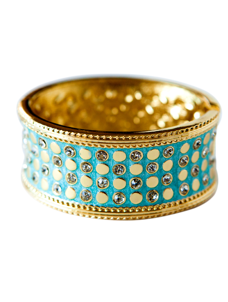 Aqua gold Crystal Cuff
