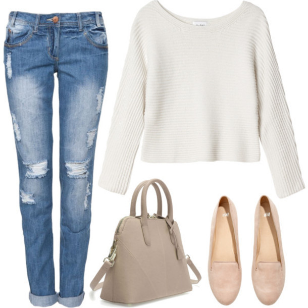 Simple Outfits With Jeans And Flat Shoes