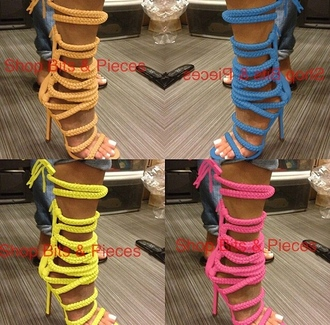 lace up open toes monikah chang monika chiang lace up heels booties shoes boots booties sandals lace up sandals rope strings heeled sandal