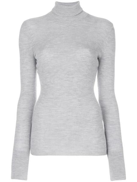 sweater turtleneck turtleneck sweater women wool grey