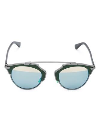 metal women sunglasses green