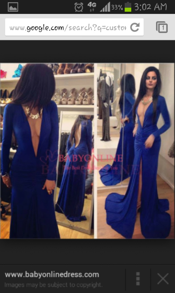 blue dress slit dress cleavage cleavage dress