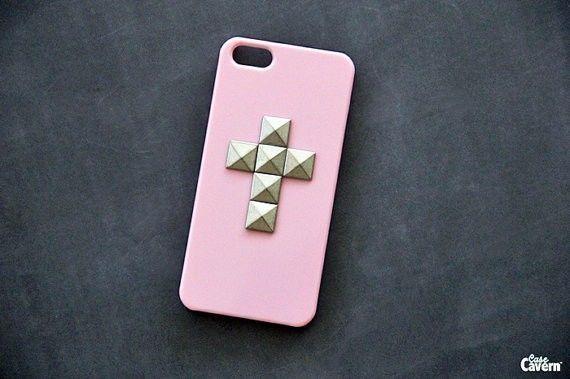 Pink iPhone Case iPhone 5 Case Cross iPhone 4 Case Studded iPhone 4S Case | eBay