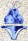 Blue tie dye bikini