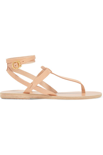 embellished sandals leather sandals leather neutral shoes
