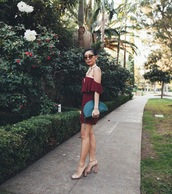 honey n silk,blogger,dress,sunglasses,burgundy dress,green bag,mini bag,nude heels,summer outfits