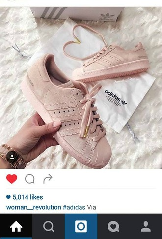 shoes adidas shoes adidas adidas superstars blush pink baby pink instagram