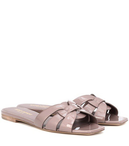 Saint Laurent sandals leather sandals leather pink shoes