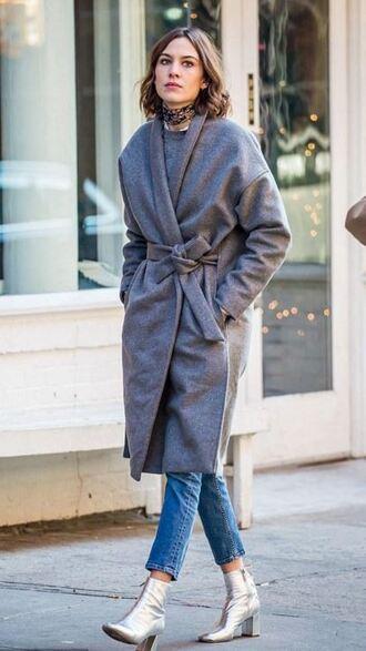 coat denim fall outfits alexa chung
