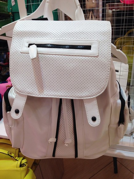 topshop white bag leather