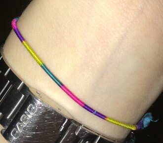 jewels rainbow bracalet peru rope handwoven selfmade