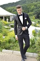jacket,suit,velvet,black,suave,classy,prom,elegant,black and white,clothes,menswear,mens suit,mens blazer,prom menswear,mad men,grey blazer