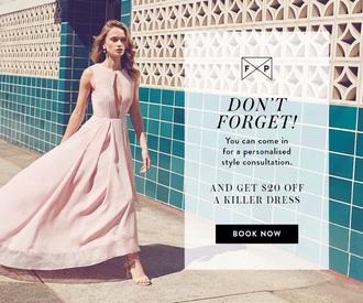 dress pink formal fame and partners soft formal dress prom dress beautiful flowy floor length light pink seasonal