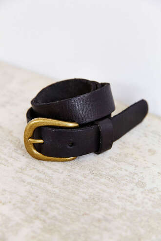 belt black leather buckles gold