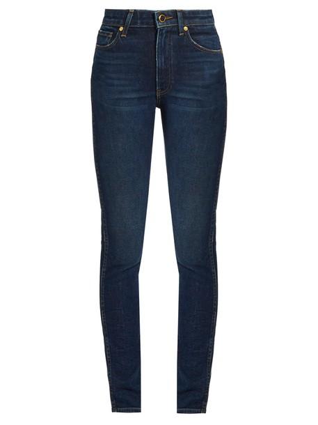 KHAITE jeans high denim dark