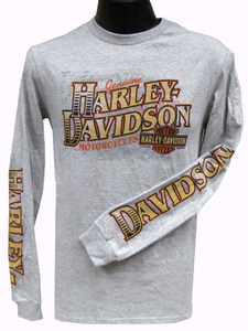 Harley-Davidson® T-Shirt, Long Sleeves, Motorcycle Creed, Heather Gray
