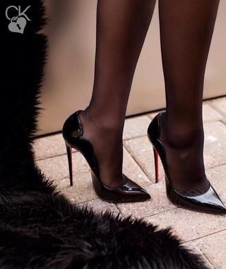 shoes high heel pumps patent shoes black heels