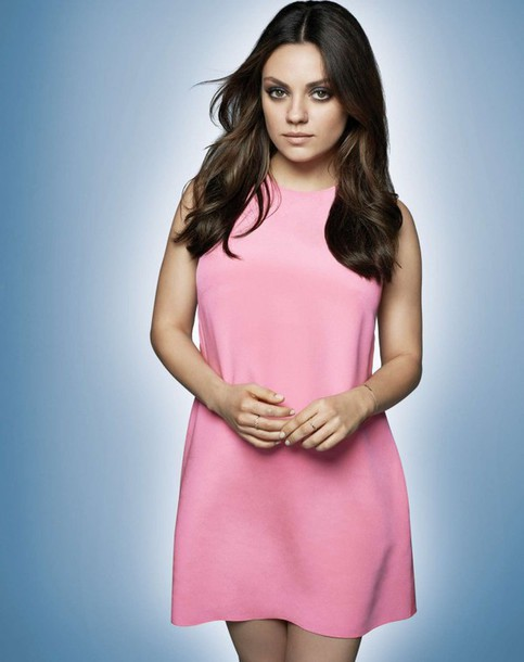 dress pink mila kunis short dress