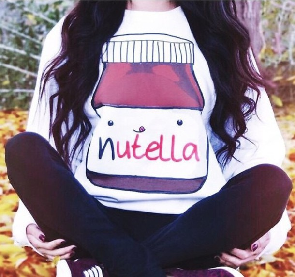 sweater nutella white sweater food nutella shirt?