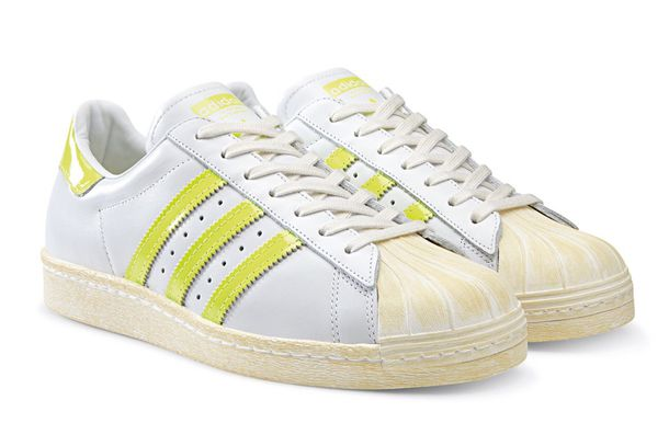 adidas white and yellow trainers