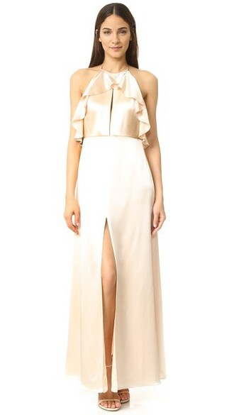 gown ruffle dress