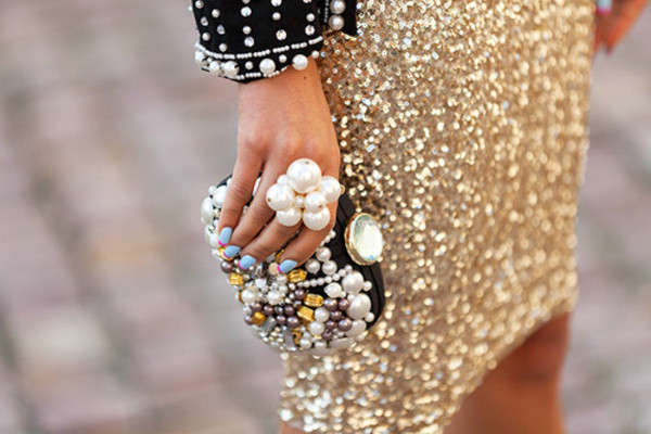 bag pearl clutch rhinestones glamour fashion dress jacket