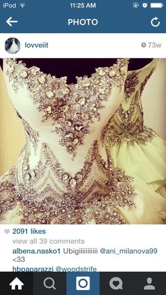 dress bling bodest off white wedding dress